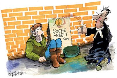 Arbeitslosenversicherung Karikatur