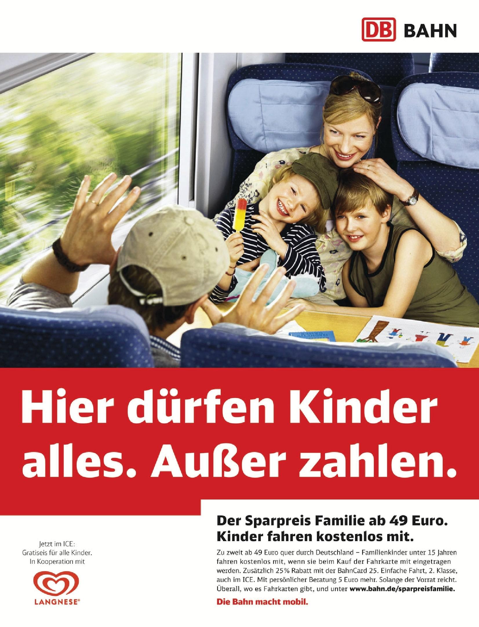 Werbung Bahn